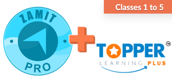Picture of zamit Pro + Topper Learning (Classes 1-5)